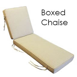 Boxed Double Welted chaise lounge replacement cushions